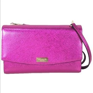 Kate Spade Laurel Winni Metallic Leather Clutch